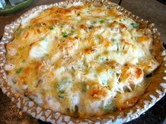 Seafood Bake - lobster, clam meat, scallops, cream seafood base, butter, garlic, Old Bay seasoning, chicken stock...