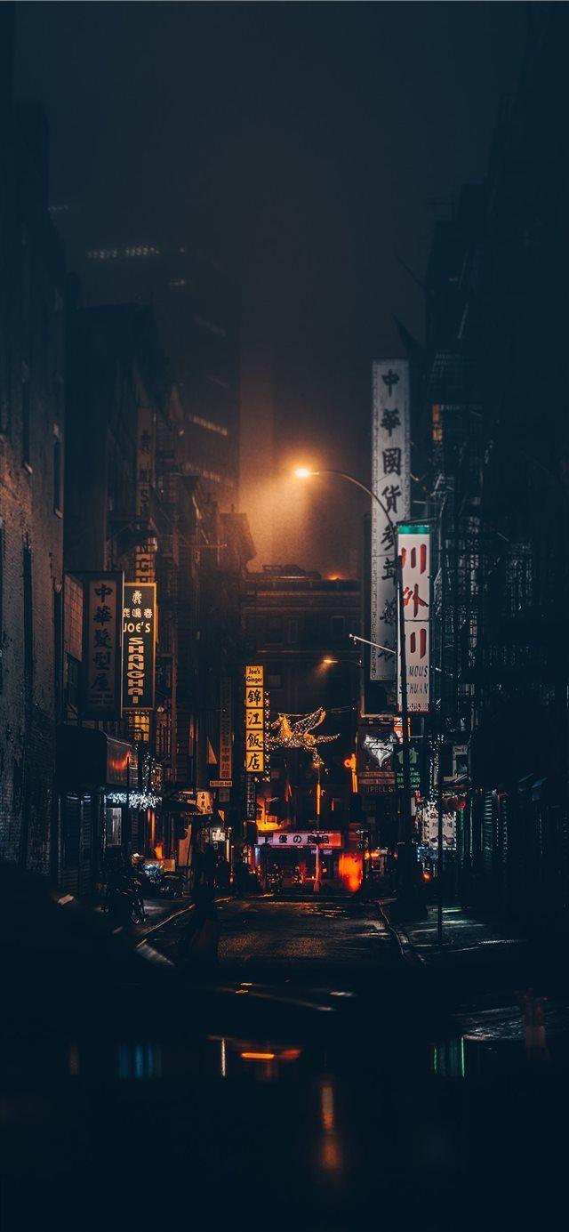 Chinatown New York United States City Lights Wallpaper Iphone Wallpaper Night Usa Wallpaper
