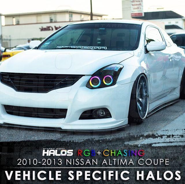 2010-2013 Nissan Altima Coupe RGB+Chasing Starry Night Halo Kit (4 Halos)ˑ