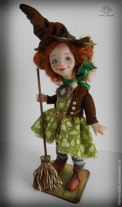 Коллекционные куклы ручной работы. Диана. Анна Фадеева. Ярмарка Мастеров. Ведьма, сатин