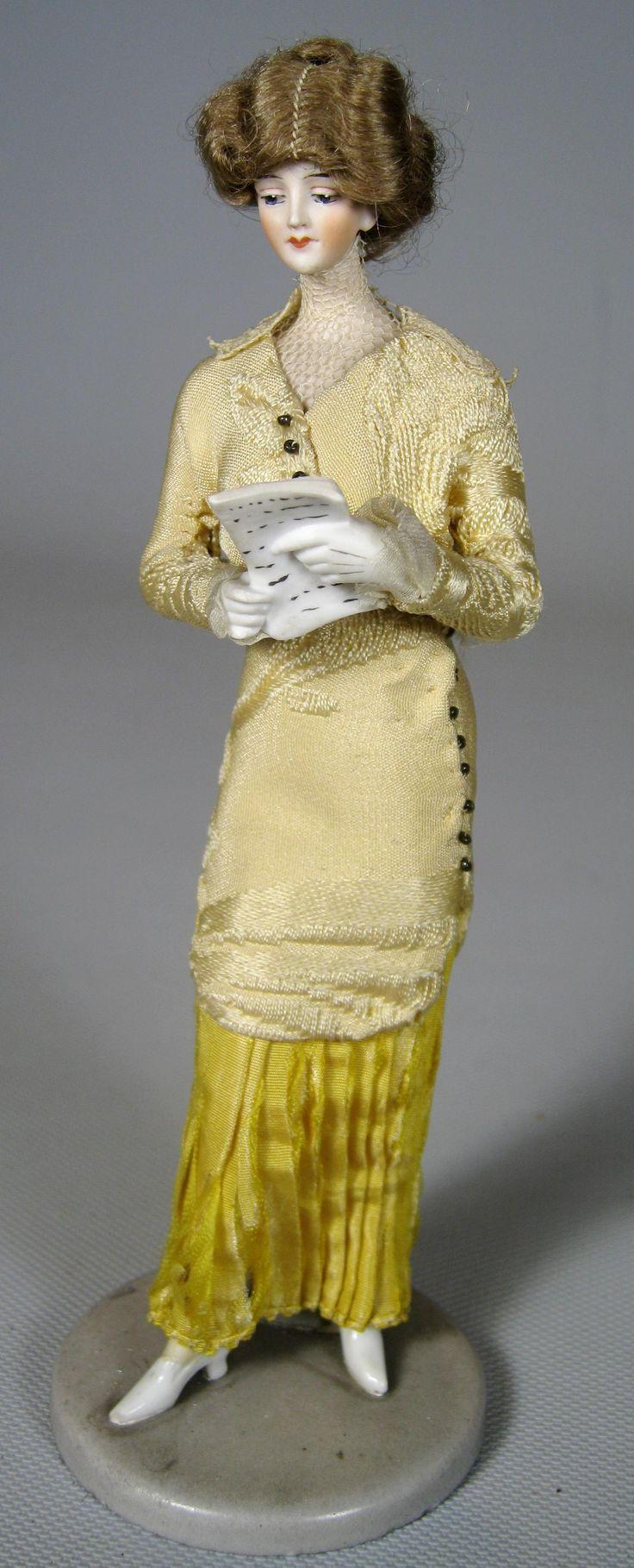 Galluba Hoffman Antique German Bisque Fashion Doll Bathing Beauty Figurine