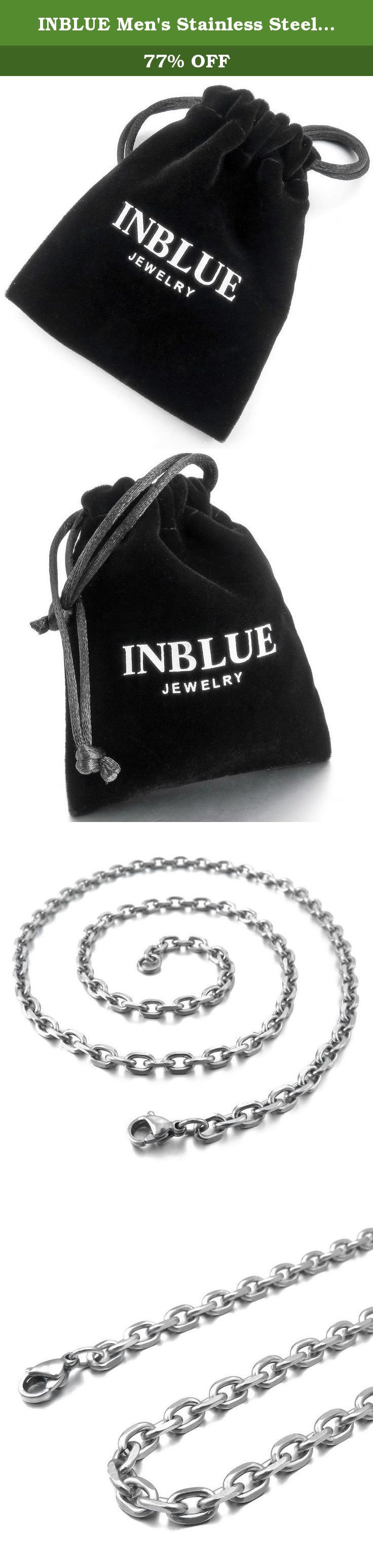 INBLUE Men's Stainless Steel Pendant Necklace Silver Tone Black Pirate Skull -with 23 inch Chain. INBLUE - High quality Jewelry Discover the INBLUE Collection of jewelry. The selection of high-quality jewelry featured in the INBLUE Collection offers Great values at affordable Price, they mainly made of high quality Stainless Steel, Tungsten, Silver and Leather. Find a special gift for a loved one or a beautiful piece that complements your personal style with jewelry from the INBLUE...
