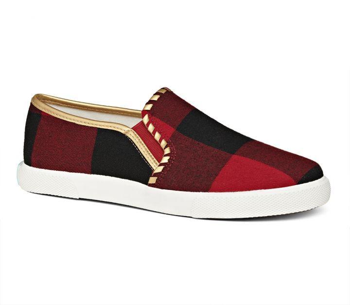 Brynne Sneaker - Red / Black   Slip on
