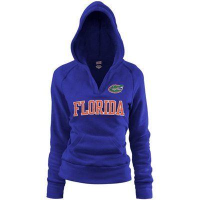 Florida Gators Ladies Royal Blue Rugby Vintage Hoodie Sweatshirt