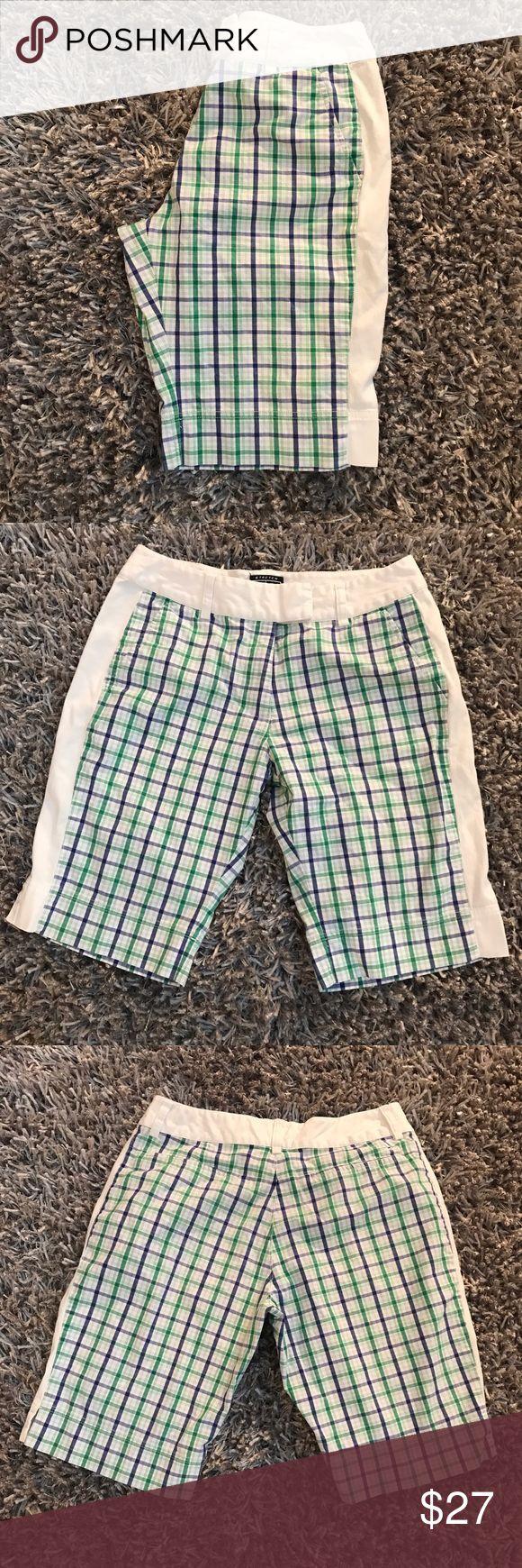 Adidas Golf Shorts White Plaid Women's 6 Stretch ⭐️️Women's Size 6  ⭐️️long Bermuda shorts  ⭐️️blue & green plaid  ⭐️️Approx Measurements:  Soon to come  060317-2 🚫trades please adidas Shorts Bermudas