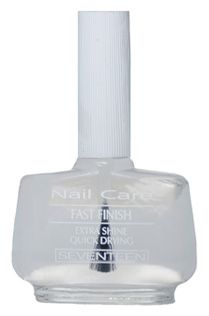 Fast Finish Extra Shine Top Coat | Seventeen Cosmetics A special product that provides nails with extraordinary shine and ensures fast-drying nail color. #Seventeen #Cosmetics #nails #nailpolish