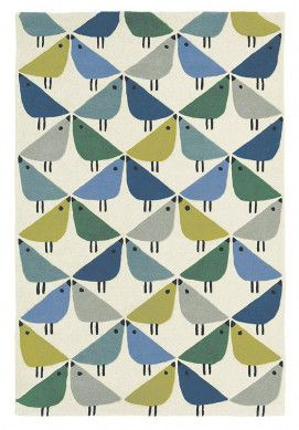 Cute Entz ckender Wollteppich Lintu Pacific Multicolor bei onloom