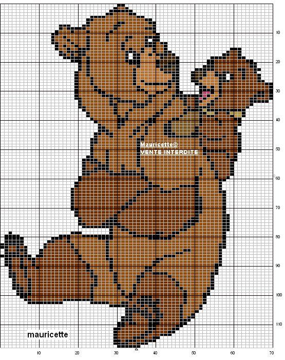 Disney Brother Bear perler bead pattern by Mauricette