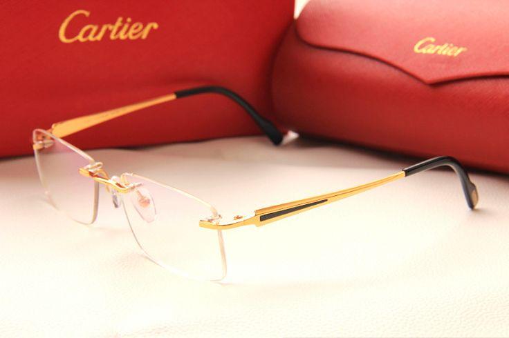 model3139952 2014 cartier optical frame titan 24k gold men eyeglasses high quality eyewear frames 3139952 china cartier optical fram
