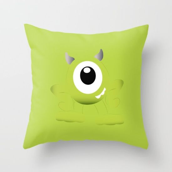 Buy Baby Mike Wazowski Throw Pillow by happy patterns. Worldwide shipping available at Society6.com. Just one of millions of high quality products available.