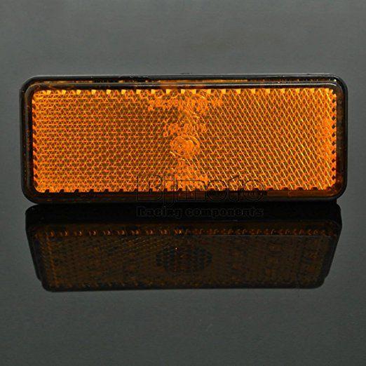 universel Réflecteur LED Jaune arrière Feux Stop Feu de Gabarit pour Jeep SUV Camion Remorque Voiture Moto Micros RVS