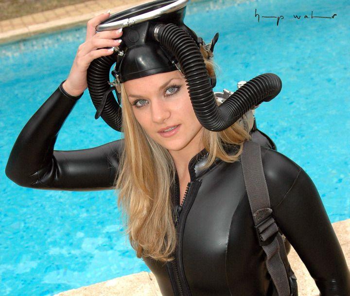 Variants.... underwater vintage woman very