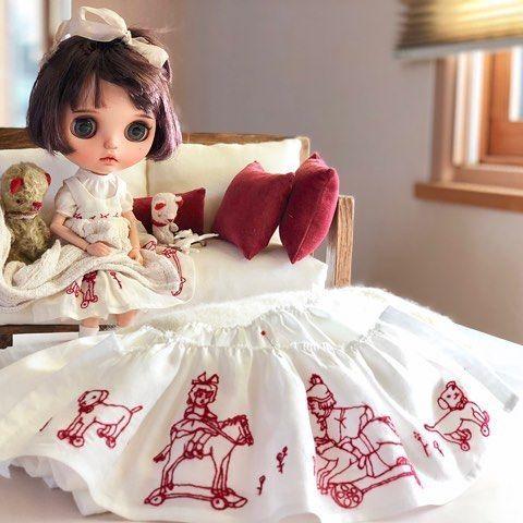 ✨❤️  #wanwandoll#guu3kumanami#blythe#blytheoutfit#blythecustom#doll#dollclothes#blythedoll#dollphoto#dollstagram#instadaily#harusya#ドール#アウトフィット#ブライス#手作り#テディベア