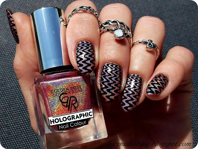 GOLDEN ROSE Holographic Nail Colour 04