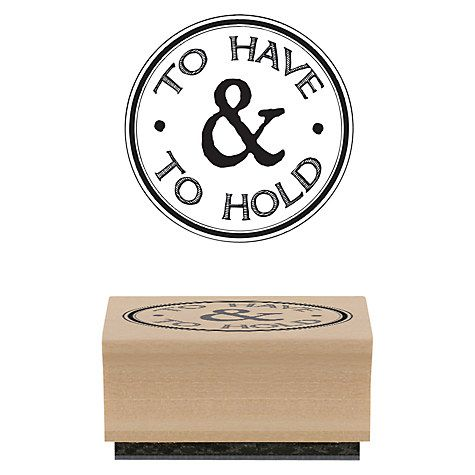 Buy East of India 'To Have & To Hold' Rubber Stamp Online at johnlewis.com