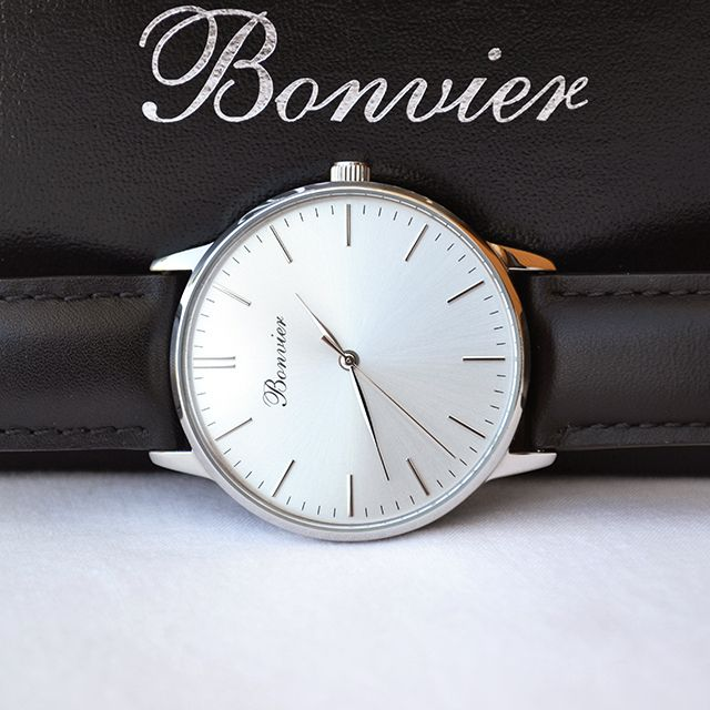 Details - Classic Silver. Free shipping worldwide - www.bonvier.com #bonvier #watches #orologi
