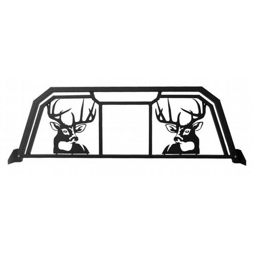 White Tail Deer Headache Rack With Window Opening For 1992-96 Ford F-150 F-250 F-350