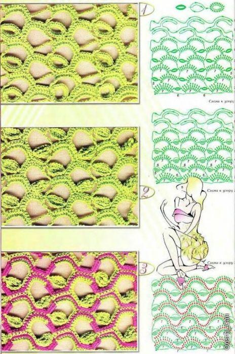 Crochet basics: hollow fabric patterns - maomao - my heart move