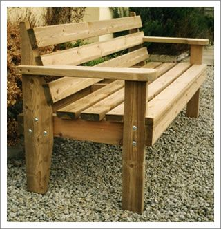 Cool Wooden Garden Bench  GoodStuffAtHome