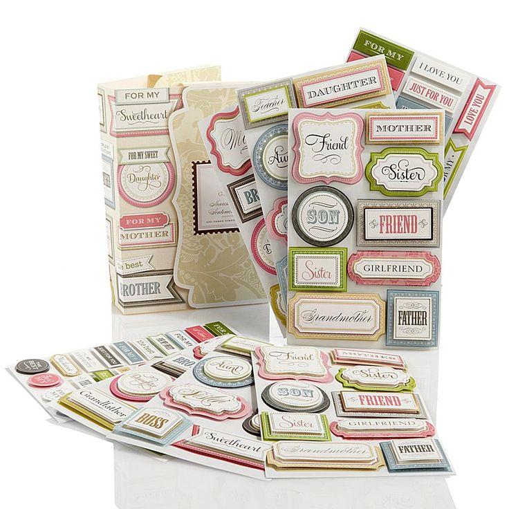 Anna Griffin® Nearest and Dearest 3D Sentiment Sticker Library