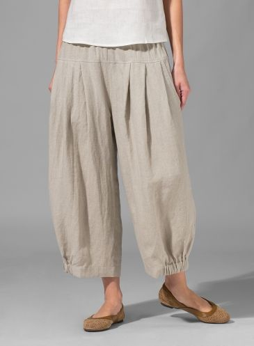 Love this style of pant. Add elastic on one side of bottom only. Cute idea.