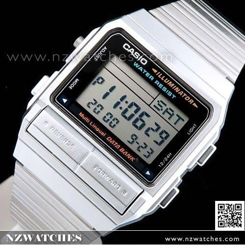 Casio Vintage Style Data Bank Golden Digital Watch DB-380G-1, DB380G
