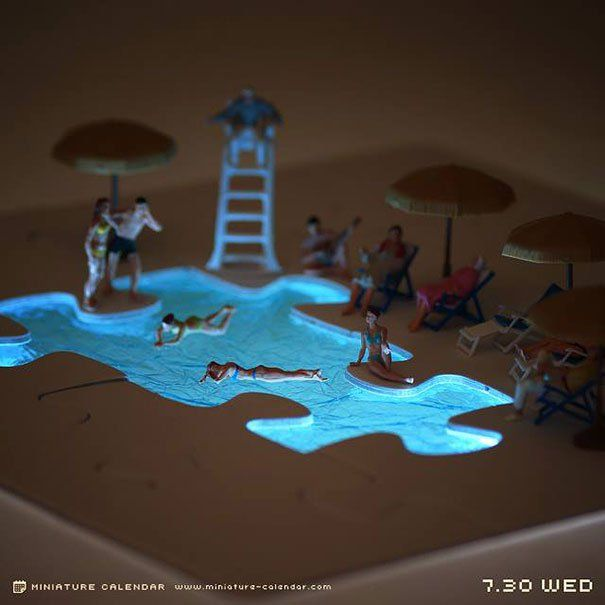 The Unbelievable 4-Year-Long Miniature Diorama Project  #sharkweek #miniature #miniaturecalender #diorama #foodart #tiny