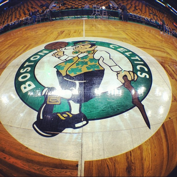 Boston Celtics, attending a game at THE GARDEN. Not the Garden re-dux. But the real, original, one and only Boston Garden.