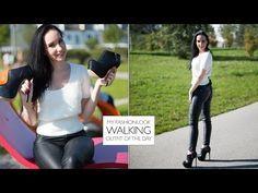 Lederhose - Leather pants and extreme high heels - Video: Walking in High Heels - Tipps & Tricks - Tutorial