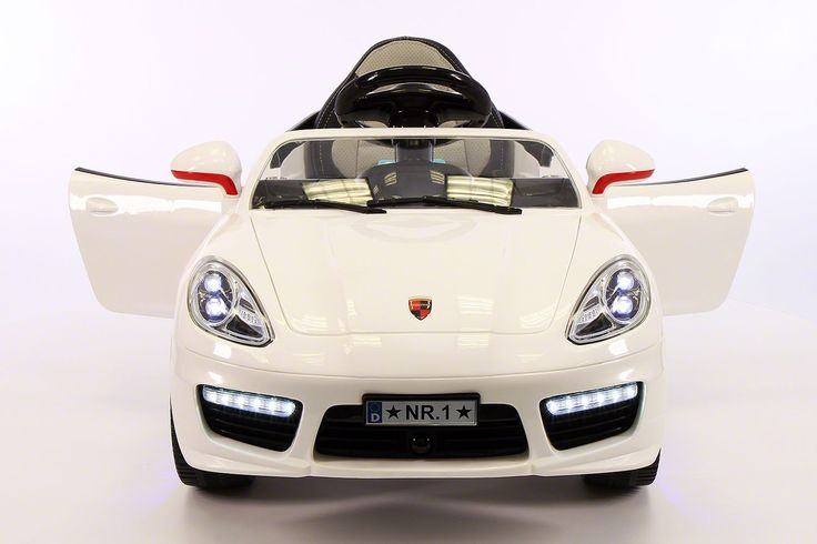 White Porsche Boxster Style Car-Kids Ride-on Car- Battery Powered Wheels- LED…