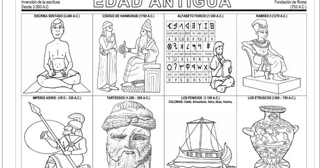 La Edad Antigua Fichas De La Linea Del Tiempo Actiludis Com Edad Antigua Fichas Historia Antigua