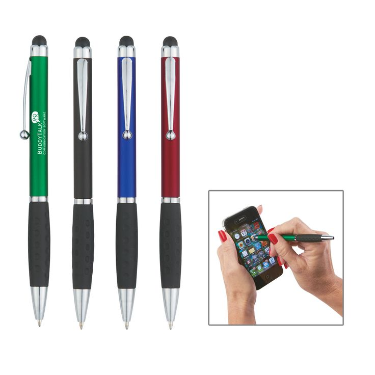 Rubber Grip and twist action ballpoint pen. Four colors available. 250 or more just $.79, no setup.