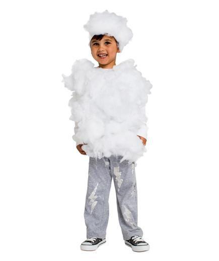 24 Homemade Kids' Halloween Costumes: No-Sew DIY Lightning Cloud Costume #costume #halloween