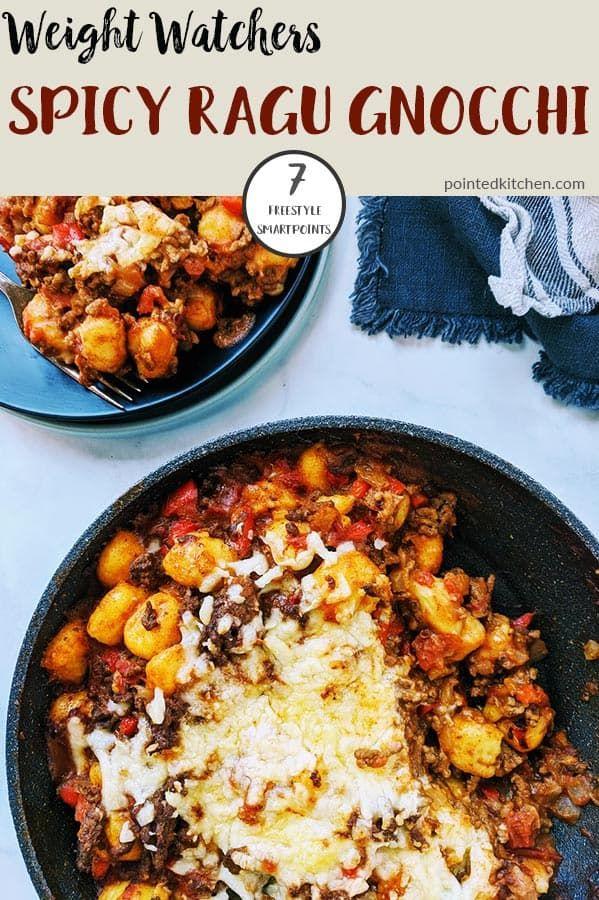 Oh My This Spicy Ragu Gnocchi Is Fantastic A Mix Of Lean Ground Beef S Weight Watcher Ground Beef Recipe Ground Beef Recipes Healthy Dinner With Ground Beef
