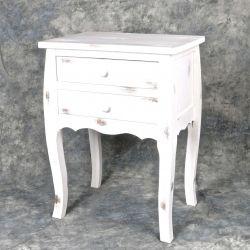 Table d'appoint en bois  blanc antiqué 13.8'x36.9'x26.8'