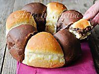 Ciambella bicolore brioche alla nutella ricetta | Arte in Cucina