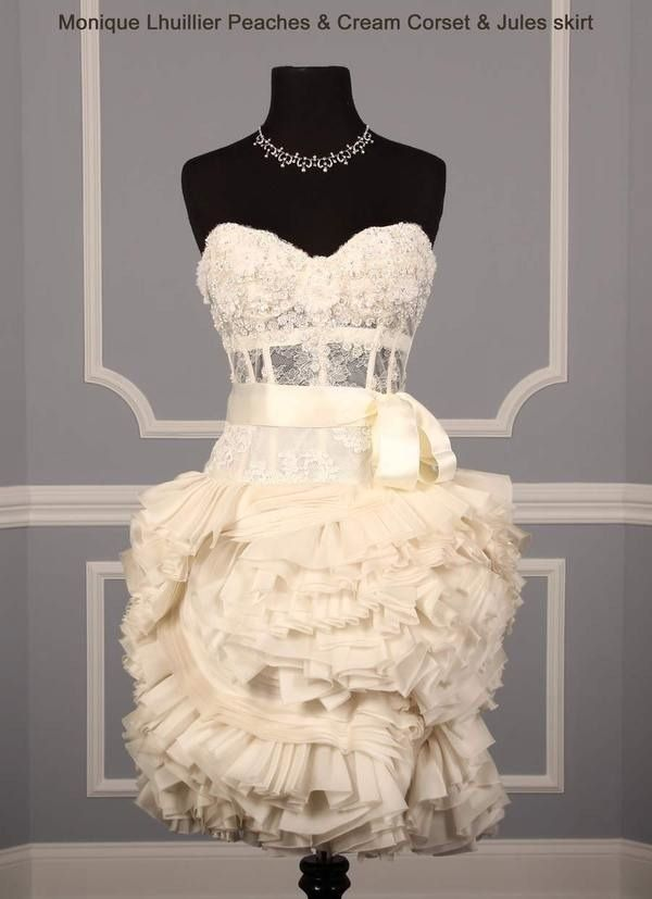 This is an amazing short dress for a reception. I would love to have it, its just so...perfect:)