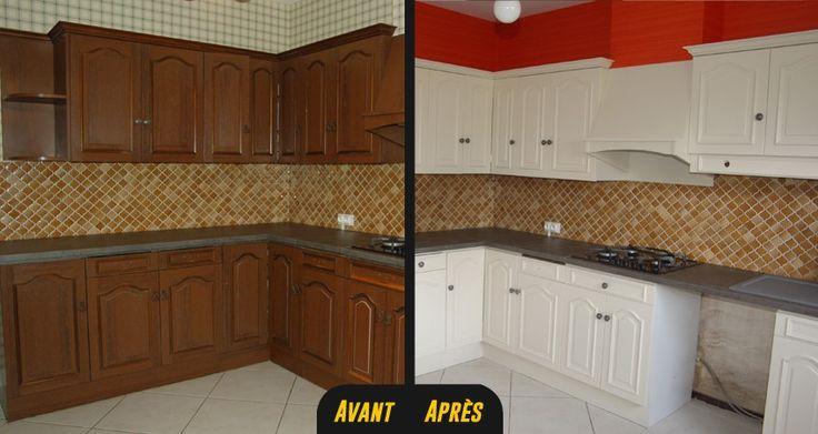 Relooking cuisine stratifiee vannes rennes lorient 1 r novation cuisine ava - Relooking meuble avant apres ...