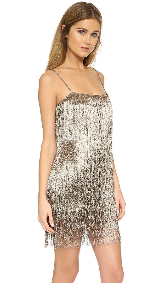 Rachel Zoe Della Fringe Metallic Mini Dress | SHOPBOP