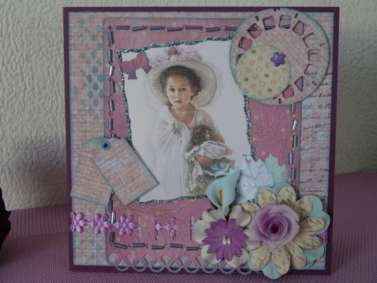 Carte féminine nostalgie shabby chic