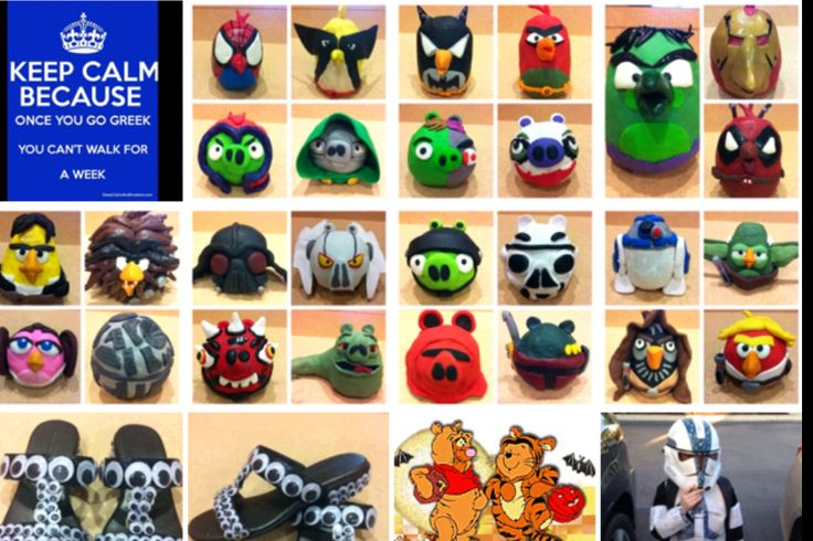 Handmade Star Wars angry birds sculpture