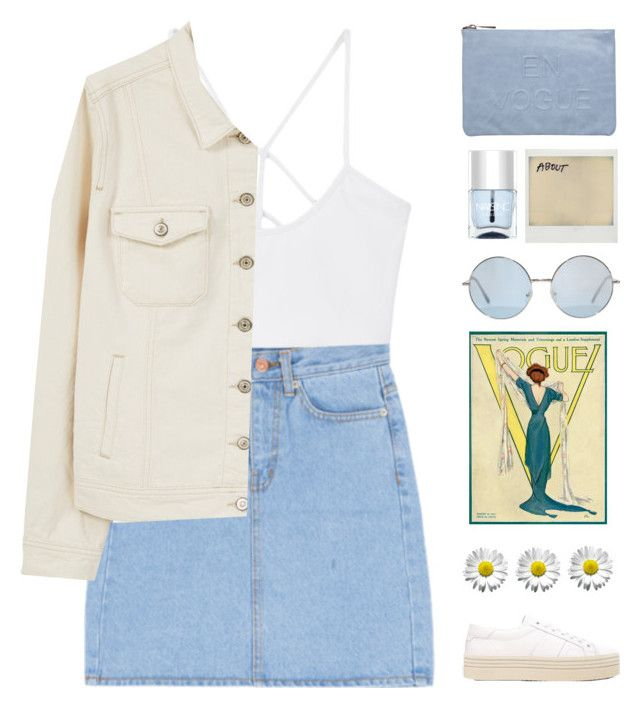 """ade's 3k set challenge// set 5"" by via-m ❤ liked on Polyvore featuring MANGO, Violeta by Mango, Yves Saint Laurent, Miss Selfridge, Polaroid and Nails Inc."