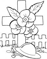 Remembrance Day colouring sheets.
