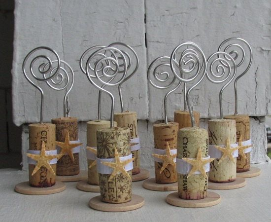 Starfish Wine Cork Place Card Holders Or Photo Holders