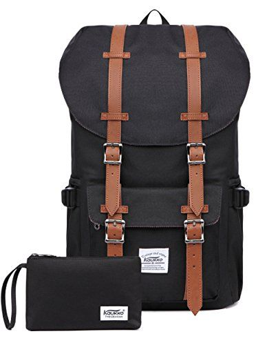 """Kaukko Laptop Outdoor Backpack, Travel Hiking& Camping Rucksack Pack, Casual Large College School Daypack, Shoulder Book Bags Back Fits 15"""" Laptop & Tablets (Nblack 2pcs). For product & price info go to:  https://all4hiking.com/products/kaukko-laptop-outdoor-backpack-travel-hiking-camping-rucksack-pack-casual-large-college-school-daypack-shoulder-book-bags-back-fits-15-laptop-tablets-nblack-2pcs/"""