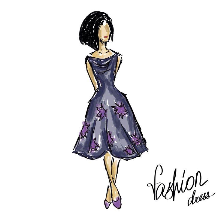 Fashion sketch Adobe Illustrator