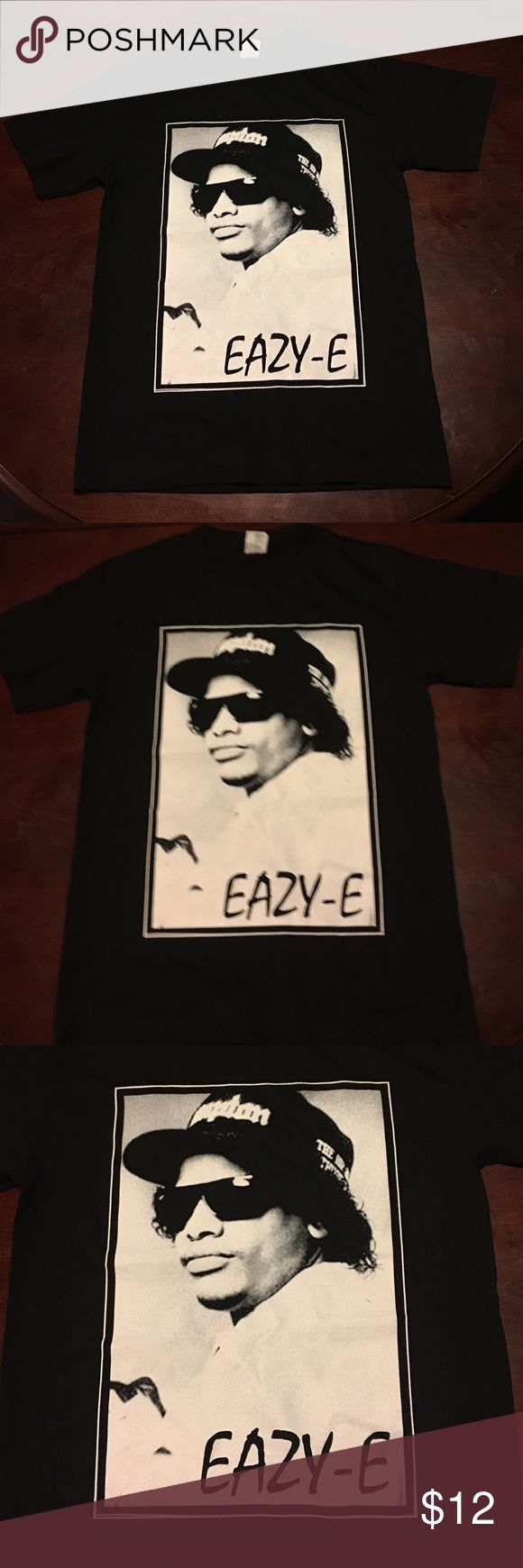 🎉Clearance Sale! NWT Men Eazy-E Compton T- Shirt New Last Size 100% Cotton AAA Shirt. Silk Screen Print. Priced to sell asap.  📌Prices have been fairly placed taking your shipping costs and my fees into account. AAA Shirts Tees - Short Sleeve