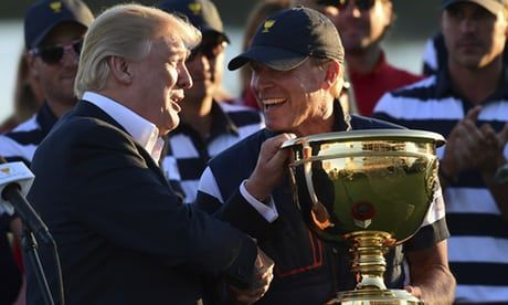 Donald Trump dedicates golf trophy to Puerto Rico amid disaster response criticism https://www.theguardian.com/world/2017/oct/02/donald-trump-puerto-rico-presidents-cup-golf-trophy-hurricane-victims