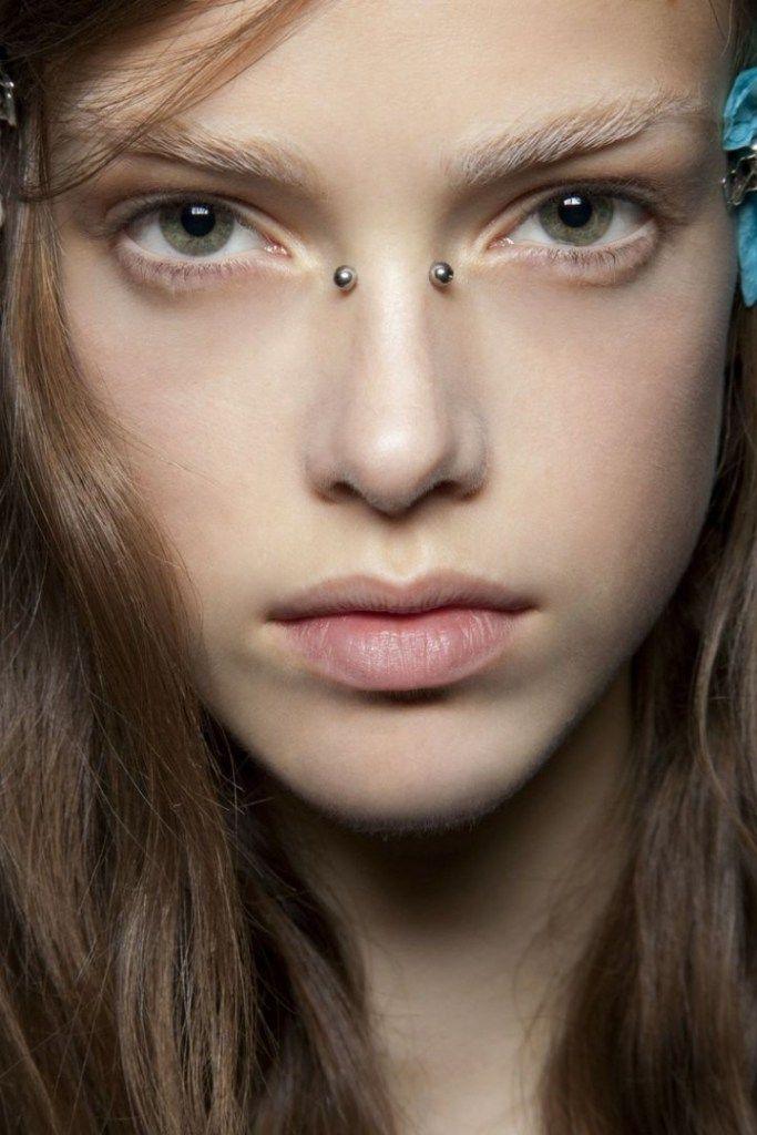 cute bridge nose piercing