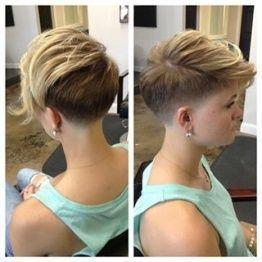 Justin Dillaha--master of short hair! Shaved side, pixie ... - <3 - makumbo - Finspi.com
